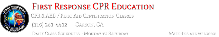 FIRST RESPONSE CPR EDUCATION